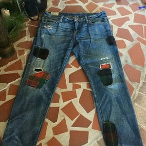 Polo Ralph Lauren Patched Distressed Denim!